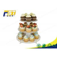 China Round Cardboard Cake Display 3 Layers 100% Recycling For Wedding Birthday Parties wholesale