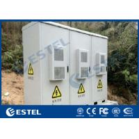China Three Doors Outdoor Base Station Cabinet IP55 With Air Conditioner Cooling System wholesale