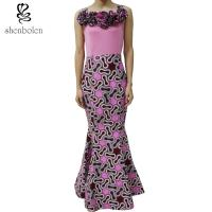 China Fashion African Design Dashiki Wax Print Patchwork Long Maxi Dress Wholesale wholesale