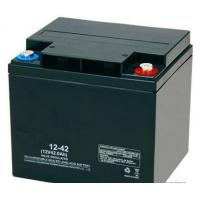 Quality High Reliability Black 12v 42ah Agm Battery Rechargeable Long Cycle Life for sale