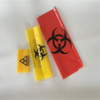 China Red Yellow  HDPE Biohazard medical autoclave waste bags for hospital and laboratory on sale