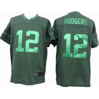 China nike nfl green bay packers 12 rodgers green drenched jersey wholesale