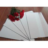China Clear / Tinted / Colored Mirror Glass , Aluminum Mirror Sheet For Decoration wholesale