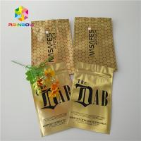 Quality Gold Royal Kratom Bali Foil Ziplock Packing Bags , Stand Up Pouch Bags For for sale