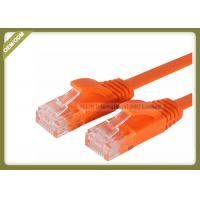 China Cat5e Copper Network Patch Cable Multi Wire With Orange Color PVC Jacket wholesale