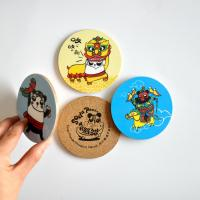 China Promotion souvenir gifts 3mm mdf cork coaster with cmyk printing coaster set wholesale