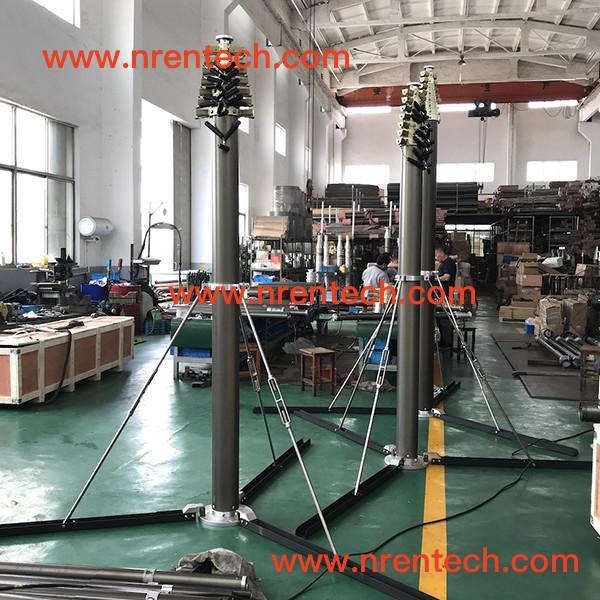 Quality 12m lockable pneumatic telescopic mast 150kg payloads for sale