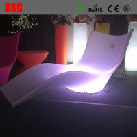 China Lightweight Swimming Pool Furniture , LED Outdoor Chaise Lounge For Leisure wholesale
