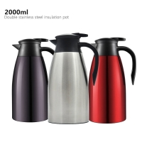 China Stainless Steel Double Wall 2000ml Vacuum Insulated Teapot wholesale