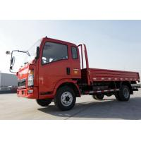 5 - 7 Ton Double Axles Dropside Truck , Light Duty Sino HOWO Trucks 110HP Engine