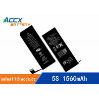 China Brand new high quality li-polymer replacement internal battery for IPHONE 5S/5C with 3.8V 1560mAh wholesale