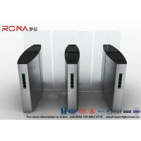 China Building Access Control Turnstile Flap Barrier Automatic With Polishing Surface wholesale