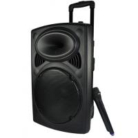 Plastic Rechargeable Portable Trolley Speakers With Wireless Microphone