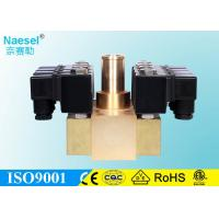 China Modular Manifold Solenoid Valve 1 / 8 - 1 / 2 Size NPT BSPP 232 PSI Pressure on sale