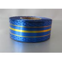China Metallic with lace and gold line craft ribbon by 20 yards 32mm for Christmas gift wrap wholesale