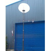 China telescoping aluminum mast portable light tower 9m sectional mast 30ft winch up 800W LED lamp wholesale