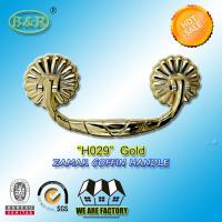 China Coffin Handle, metal Funeral Accessories And Hardware zamak H029 gold color 19.5*8.5cm wholesale