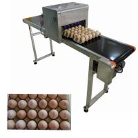 China Safety Egg Jet Coding Machine / Inkjet Marking Equipment For Time Date Characters wholesale