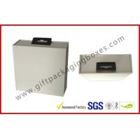 China Custom Big White Display Gift Packaging Boxes With Black EVA Holder And Hook wholesale