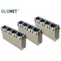 China 4 Ports ICM RJ45 Multiple Port Connectors 1G Support 100W UPoE+ With LED wholesale