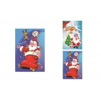China 2 Pictures Changed Lenticular Flip 3d Merry Christmas Greeting Card 12 x 17cm wholesale