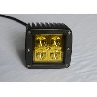 "China Yellow Lens Pods Vehicle LED Work Lights 2 x 2 3"" 16W For Marine / Jeep / Offroad wholesale"