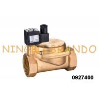 China 1'' 0927400 Normally Closed Brass Solenoid Flow Control Valve For Air Compressor on sale