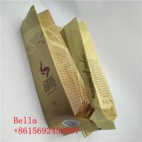 China Matte Surface Stand Up Zipper Pouch Side Gusset Bag Coffee Beans Packaging With Valve wholesale