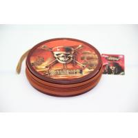 Quality Recyclable Zipper Round Metal Tin CD Case Pirates Of The Caribbean for sale