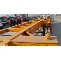 China 40ft Container Skeleton Semi Trailer Flatbed Tractor Trailer 40000kg Loading Capacity wholesale