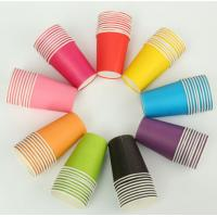 China Customized Printed Disposable Paper Cup Fan For Hot Drink on sale