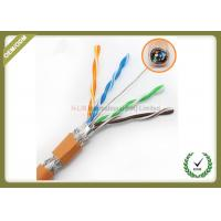 China High Frequency Network Fiber Cable 250MHz Orange Color With Pure Copper Material wholesale
