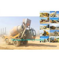 China Rotating Drum Concrete Cement Mixer Machine Self Loading Mobile Type 2.0M3 Output wholesale