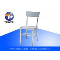 China Modern Cafe Sturdy Chair In Brushed Aluminum / Replica Emeco Navy Chair wholesale