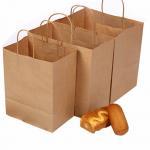 China Custom made take away fast food 120G kraft paper bag wholesale