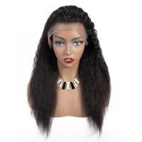 China 180 Density Full Lace Yaki Straight Human Hair Wigs For Black Women on sale