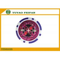 China 11.5g Purple Strips ABS Poker Chips Luxury Poker Chips Value 500 wholesale
