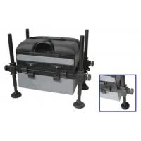 China Fishing Seat Boxes with 3 Drawers, Adjustable Round Black Legs STBX015 wholesale