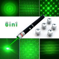 China Ray Beam Green Laser Pointers With 5 Different Laser Patterns Powerful Military wholesale