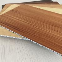 China 4mm Thick Wood Grain Aluminum Core Panel For Indoor Outdoor Decoration wholesale
