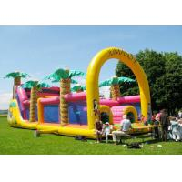 China Commercial Grade Inflatable Obstacle Race Course Bounce House With Repair Kit wholesale