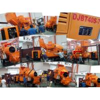 30m3/Hr Trailer Hydraulic Concrete Mixer Pump with 450L Drum