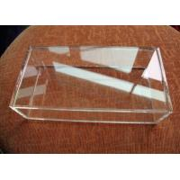 China Customized Crystal Acrylic Storage Boxes Clear Perspex For Displaying Jewelry wholesale