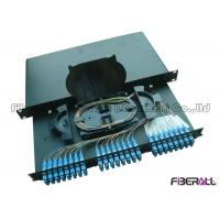 China High Density SC Fiber Patch Panel And Enclosure , 24 Port Fiber Patch Panel on sale