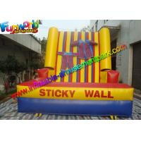 China Kids Inflatable Sports Games Hot Sticky Velcro Wall Game With Logo Printing on sale