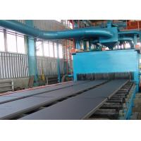 Quality Continuous Type Steel Plate Shot Blasting Machine With Cut Wire Shot 4m / Min for sale