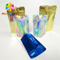 China Laminated Holographic Laser 3d Display Bags Hologram Heat Transfer Vinyl Pouch wholesale