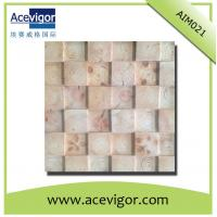 China Wooden mosaic tiles with tree rings for indoor wall decoration wholesale
