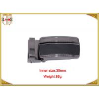 China Reversible Zinc Alloy Metal Belt Buckle For Men With Clips 35mm wholesale