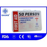 China Wall Mounted Warehouse First Aid Kit , 2 Layer Metal First Aid Box For Industrial Use wholesale